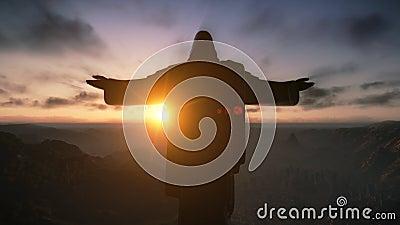Christ the Redemeer at Sunrise, Rio de Janeiro, Brazil