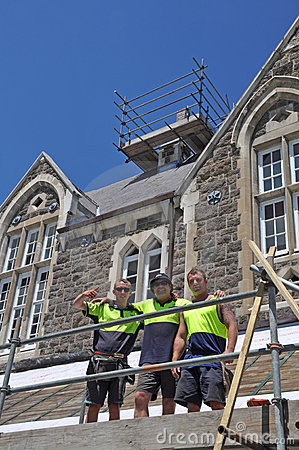 Christ s College Earthquake Repairs, Christchurch Editorial Stock Photo