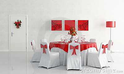 Christamas dining room