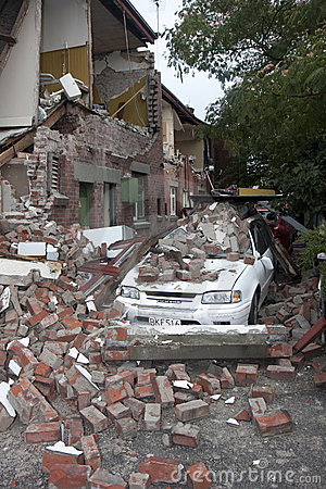 Christchurch Earthquake 22 Feb 20011 Stock Photography - Image: 18467952