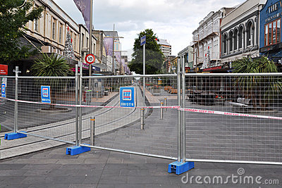 Christchurch Earthquake - Cashel Street Mall Editorial Stock Photo