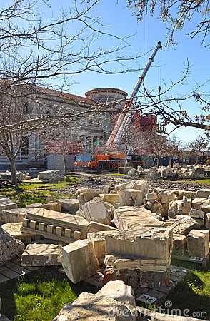 Free Christchurch Earthquake - Cathedral Restoration Stock Photos - 20997003