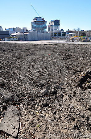 Christchurch Earthquake - CBD Wasteland Editorial Image
