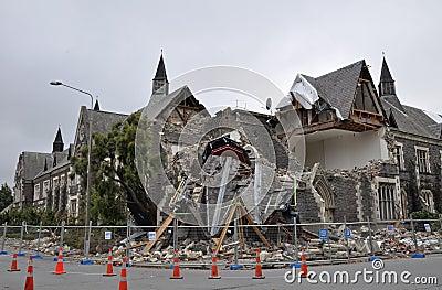 Christchurch Earthquake - Cranmer Square Editorial Photography