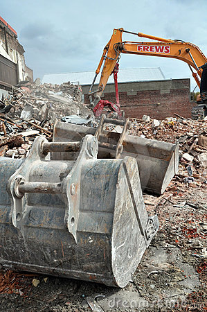 Christchurch Earthquake - Diggers & Scoops Editorial Stock Image