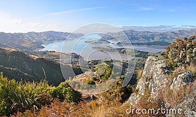 Christchurch Port Hills Panorama, New Zealand