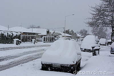 Christchurch Snowfall 2011 Editorial Stock Image
