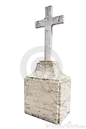 Christian blank gravestone
