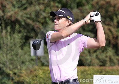 Christian Cevaer, Vivendi golf cup, sept 2010 Editorial Image