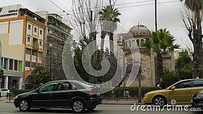 Christian Chapel à Athènes Grèce banque de vidéos