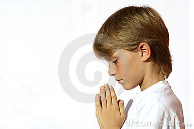 christian Child praying