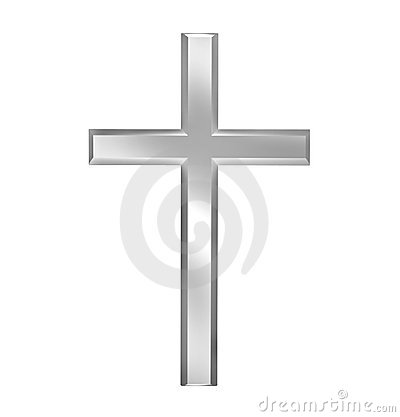 Christian cross isolated on white background