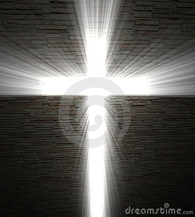Free Christian Cross Of Light Stock Photo - 10970300