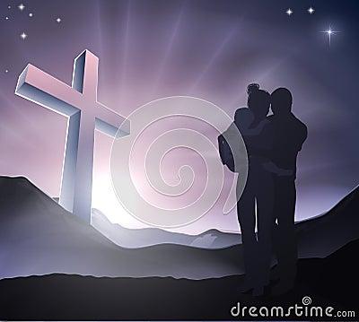 Christian Easter Family Concept