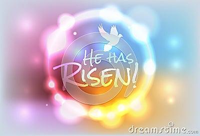 Christian Easter Risen Illustration Stock Vector - Image ...