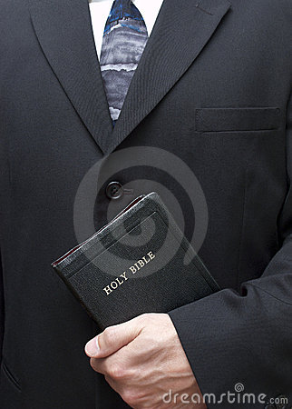 Christian Holding Holy Bible Good Book Religion
