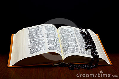 Christian Holy Bible with Cross