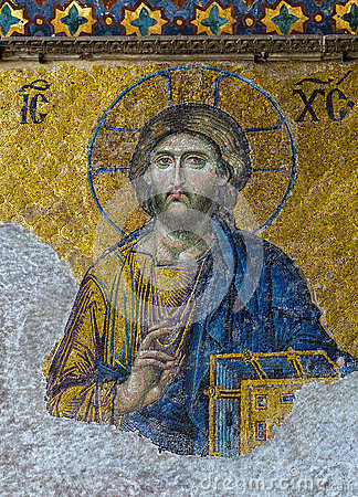 Free Christian Mosaic Icon Of Jesus Christ Royalty Free Stock Image - 40780046