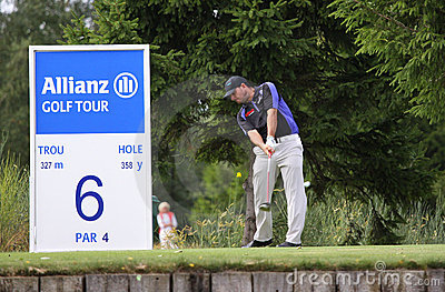 Christian Pfaller at the golf Open de Paris Editorial Photo