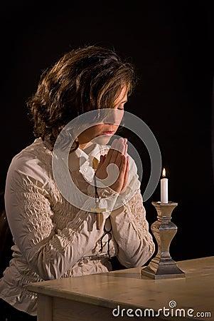 Christian Prayer with Cross