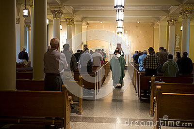Christian Religion and Mass Service, Worship God Editorial Photography