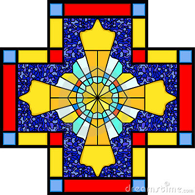 Free Christian Symbol In Stained Glass Royalty Free Stock Photography - 20938997