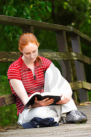 A Christian Woman with Bible