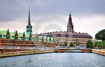 Christiansborg, Copenhagen, Denmark Editorial Stock Photo