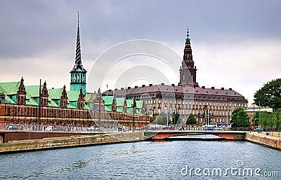 Christiansborg, Copenhagen, Denmark Editorial Stock Photo