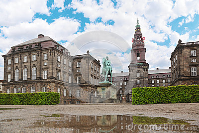 Christiansborg Palace and equestrian statue