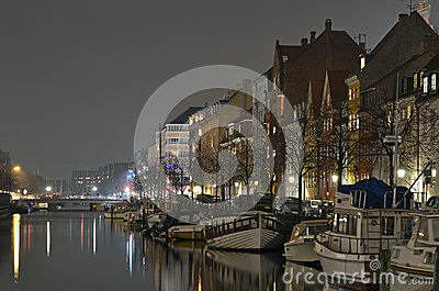 Christianshavn canal evening Editorial Photography