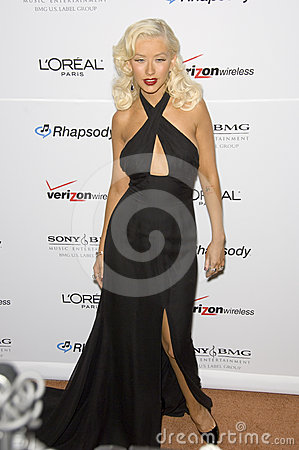 Christina Aguilera,Clive Davis Editorial Photography