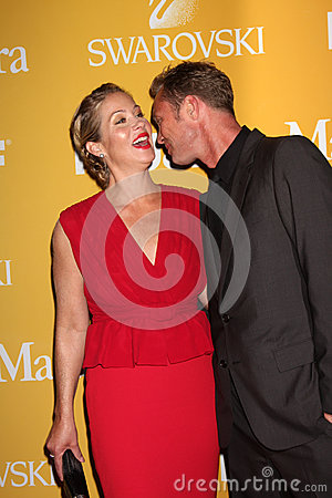Christina Applegate, husband arrives at the City of Hope s Music And Entertainment Industry Group Honors Bob Pittman Event Editorial Photo