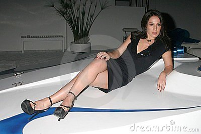 Christina DeRosa at the Mansion Party Hosted By British Talk Show Host Jacquie Blaze. Private Residence, Beverly Hills, CA. 12-07- Editorial Stock Image