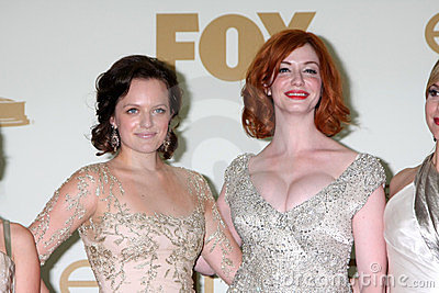 Christina Hendricks, Elisabeth Moss Editorial Photo