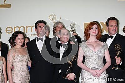 Christina Hendricks, Elisabeth Moss, Jon Hamm, Matthew Weiner Editorial Image