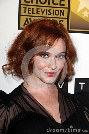 Christina Hendricks at the Second Annual Critics  Choice Television Awards, Beverly Hilton, Beverly Hills, CA 06-18-12 Editorial Photo