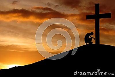 Christlicher Hintergrund - Geständnis