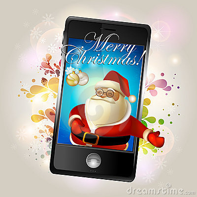 Christmans greeting with mobile