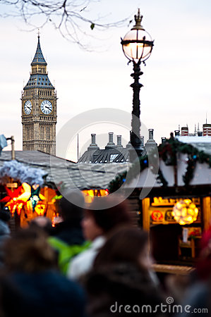 Christmans market in London Editorial Stock Photo