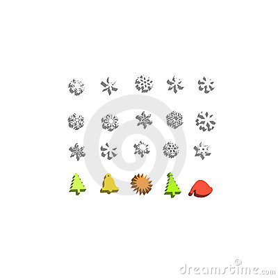 Christmas 3d icon set