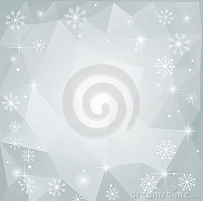 Christmas abstract polygonal background