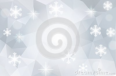 Christmas abstract polygonal cosmic background