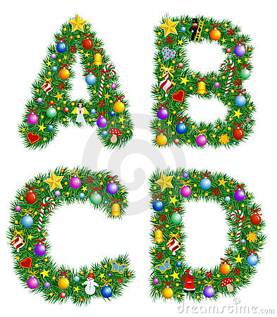 Free Christmas Alphabet Stock Photos - 3608663