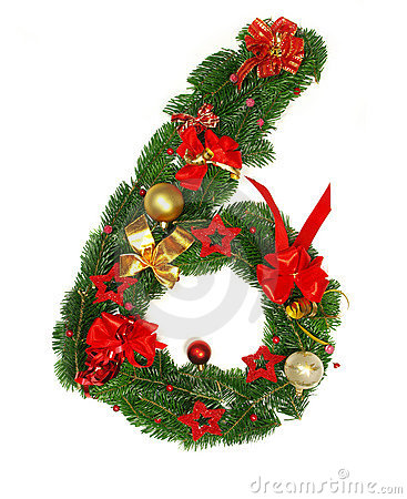 Christmas Alphabet Number 6 Royalty Free Stock Photography - Image ...