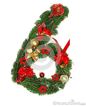 Christmas Alphabet Number 6