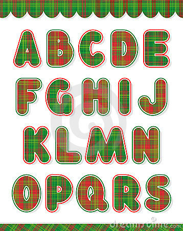 Christmas alphabet set, part 1