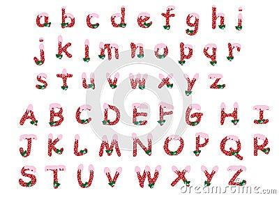 z alphabet images  Christmas alphabet A-Z/a-z -vector illust...