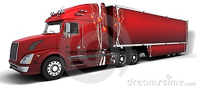 Christmas American semi-trucks