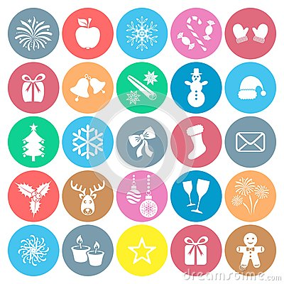 Free Christmas And Winter Icons Stock Image - 44775891